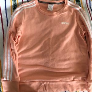 Long sleeve adidas peach sweatshirt